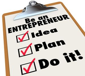 Clipboard with entrepreneur checklist