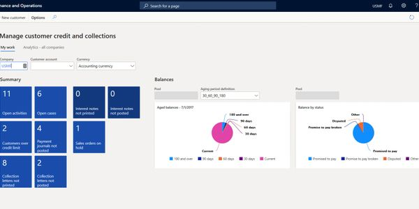 Microsoft Dynamics 365 Finance ERP Accounts Receivable and Credit & Collections Statements, AR Aging