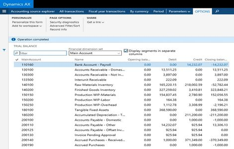Microsoft Dynamics 365 Finance ERP General Ledger Chart of Accounts, Financial Dimensions.
