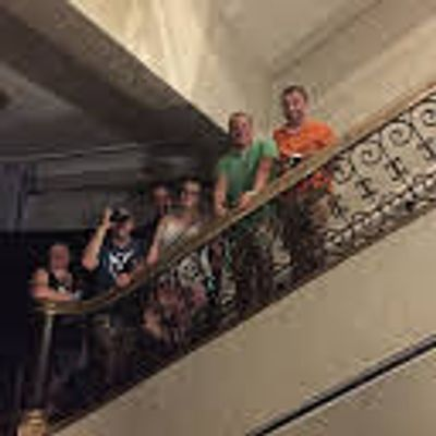 Ghost Hunters on Ghost Tour at Haunted Mansion during fun Halloween Tampa , Florida