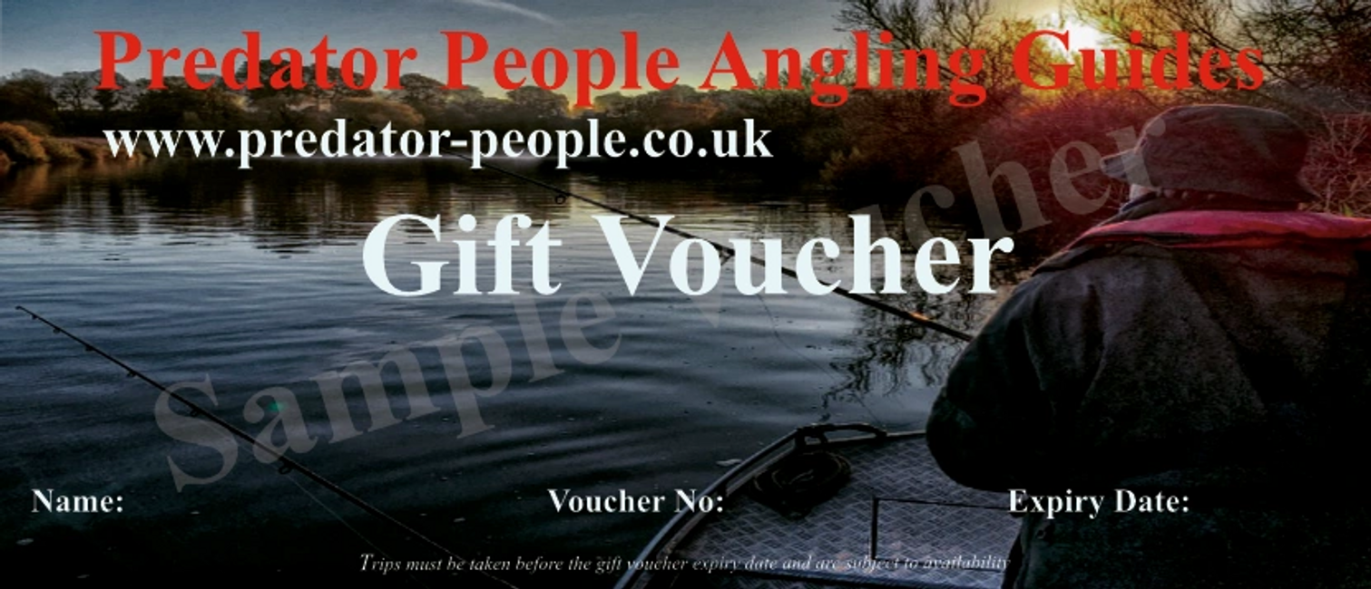 "Fishing In Norfolk ""The Predator People"" Angling Guides Gift Vouchers"
