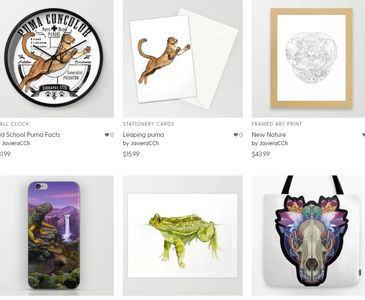 My art products for sale in Society6