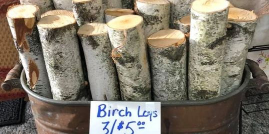 Birch logs on hand for your decorating needs