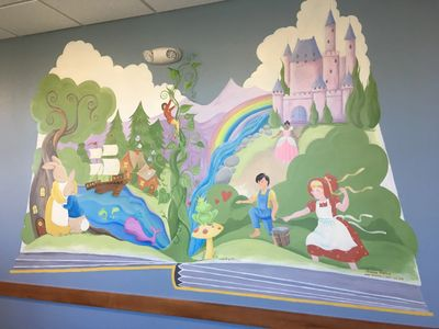 Fairy Tale Pop-Up Book in a Cary Physician's Office