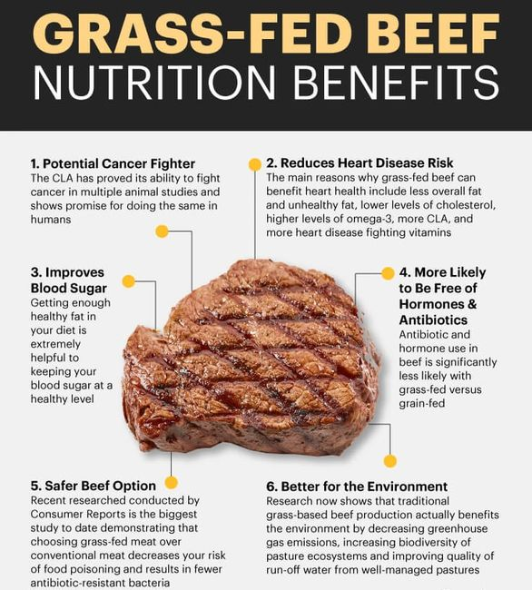 Food is Medicine Grass-fed Beef Nutrition, protein, high vitamin A & E cancer-fighting antioxidants.