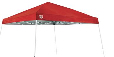 red outdoor popup beach tent. Offered by Sharkeys water sports in st pete florida www.glassbottomtours.com