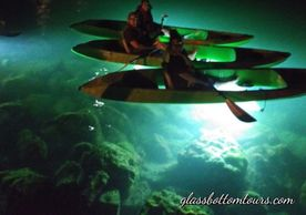 The Ultimate Kayak Adventure! Day & Night Eco Tours - Glass Bottom Kayak LED Lighted Night Tours.