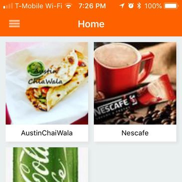 Shout-out app home page. Home page is prime real estate, where customers can advertise