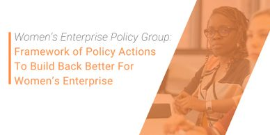 Women's Enterprise Policy Group: Framework of Policy Actions