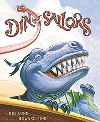 Dinosaur sailors in a rollicking rhyming good time, until they get seasick. Alliteration, assonance!