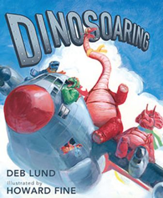 Dinosaurs on airplanes, flying high until they fall from the sky. An airshow of giant proportions!