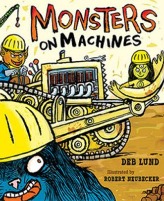 Trucks, cranes, forklifts, backhoes, shovels, machines galore! Build a not so scary monster house.