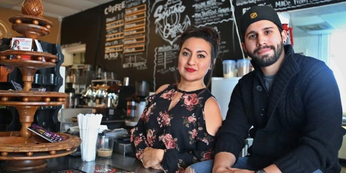 Bella Rincon and Steven Gonzalez, Southie Coffee Owners