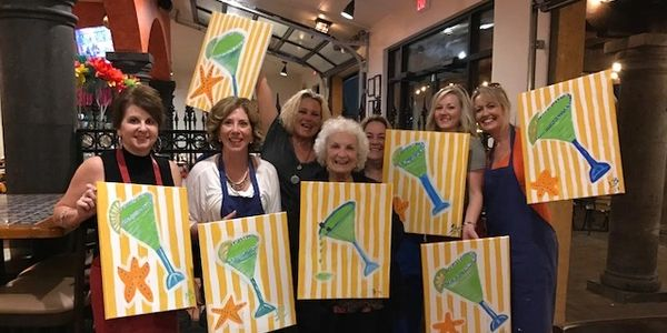 A Paint and Sip class is such a GREAT way to celebrate ANY occasion or friendship!