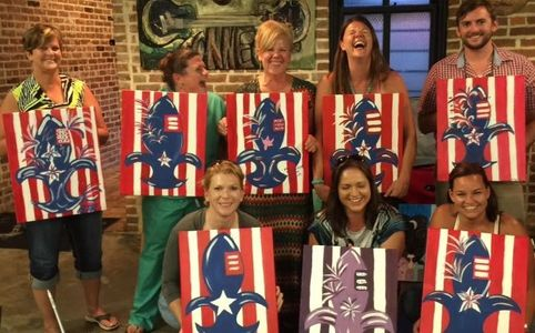 When have YOU had this much FUN?  Join a paint and sip party TODAY!