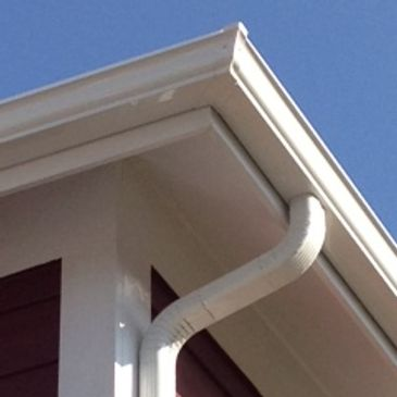 "5"" K-style gutter and 2x3 downspout"