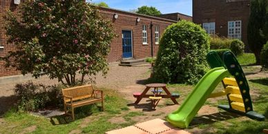 Safe, outdoor playing area in our Pre-school in Brentwood