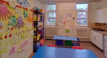 Early years and pre school kitchen area in kids after school club in Brentwood