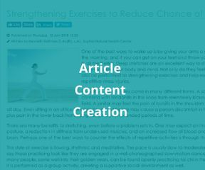 Article Content Creation