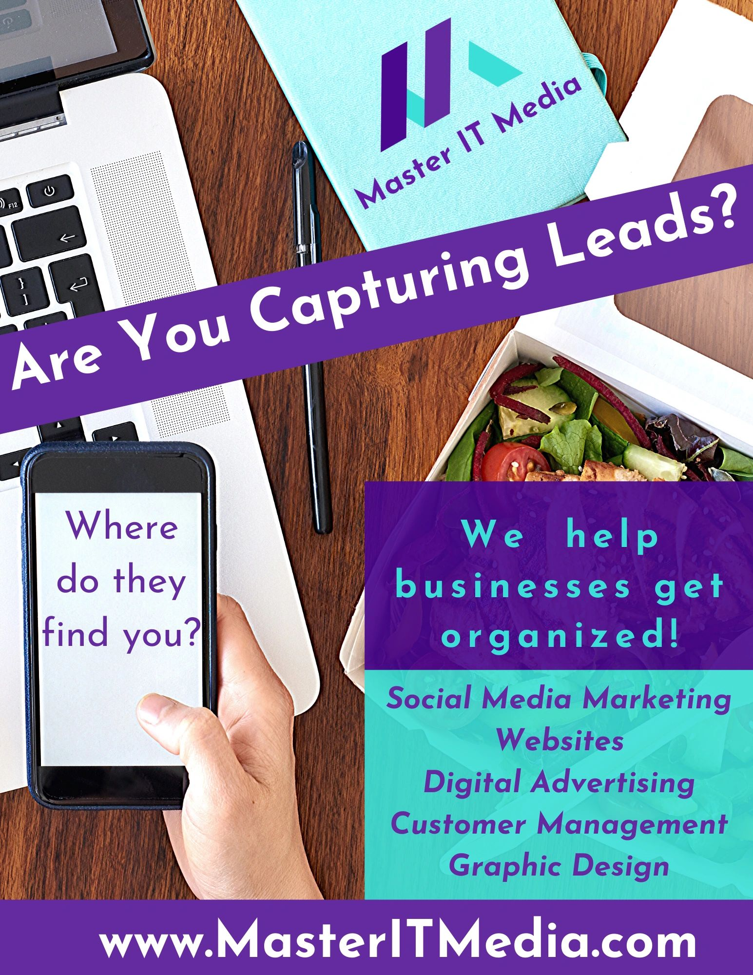 Are you capturing leads? We help businesses get organized.