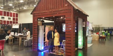 Mini-BARn Prop designed for trade shows and can be rented for use at Venue 481