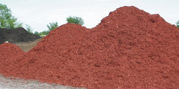Bulk Landscape Mulch in Red, Black, Brown, Tan
