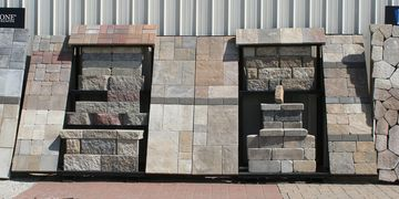 Keystone Wall Block, Paver, Natural Stone Display