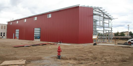 Three Creeks Brewery production facility under construction in Sisters, Oregon.