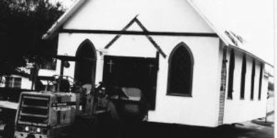 Moving the original church to DaySpring, and renamed St. Thomas Chapel. 1978-1979.