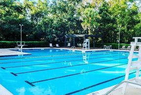 Creekside Tennis and Swim Club. Open to the public with SinkorSwim. Private Club outside of lessons.