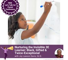 Join me for the Let's Talk 2E conf for parents on Aug 19th!