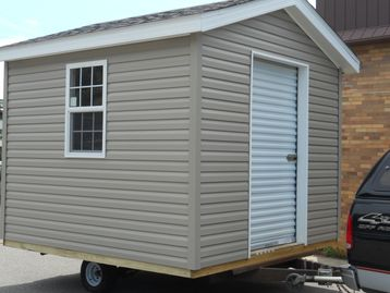 We build sheds and deliver them all over the state of Michigan.
