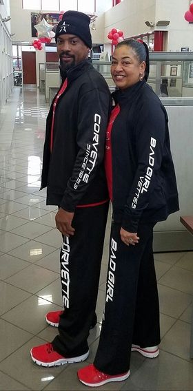 Red & Trigger sporting the unisex sweatsuit