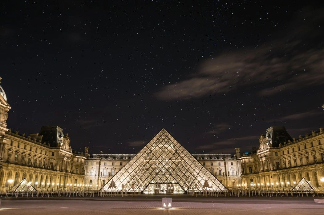 Louvre Museum:  World's largest art museum and a historic monument