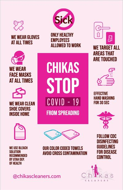 Chikas Cleaners Stop COVID-19 From Spreading