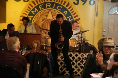 American Legion Hall underground jazz club, Harlem. Photo by Tom Houghton.