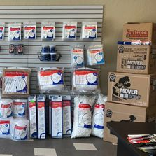 Moving and storage supplies available at Switzer's Locker Room self storage facility Norman Oklahoma