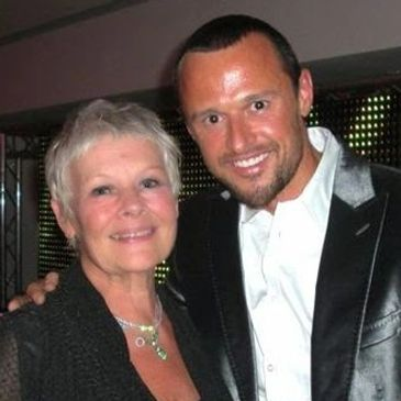 Dame Judi Dench and Raphaël Pathé at a charity event