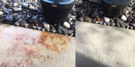 From Rust Stain to clean concrete