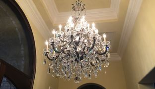 Bright and Clean Crystal Chandelier