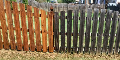 clean and dirty fence