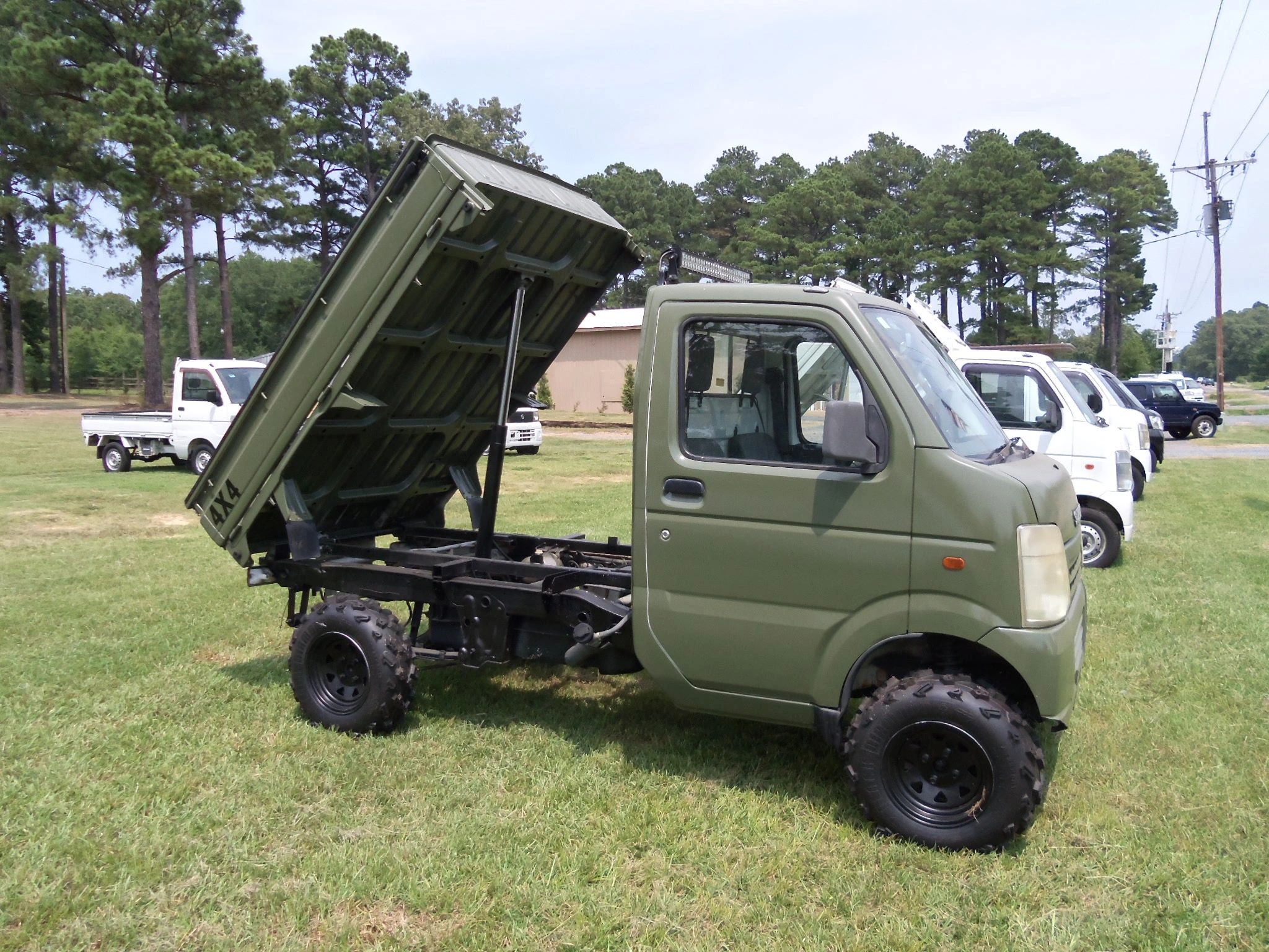 2003 suzuki carry camo green mini japanese dump truck