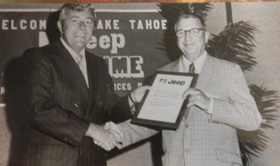 July 7, 1971 M.C.G. Founder Woodrow F. Knollinger is awarded one of the first Jeep Dealerships.