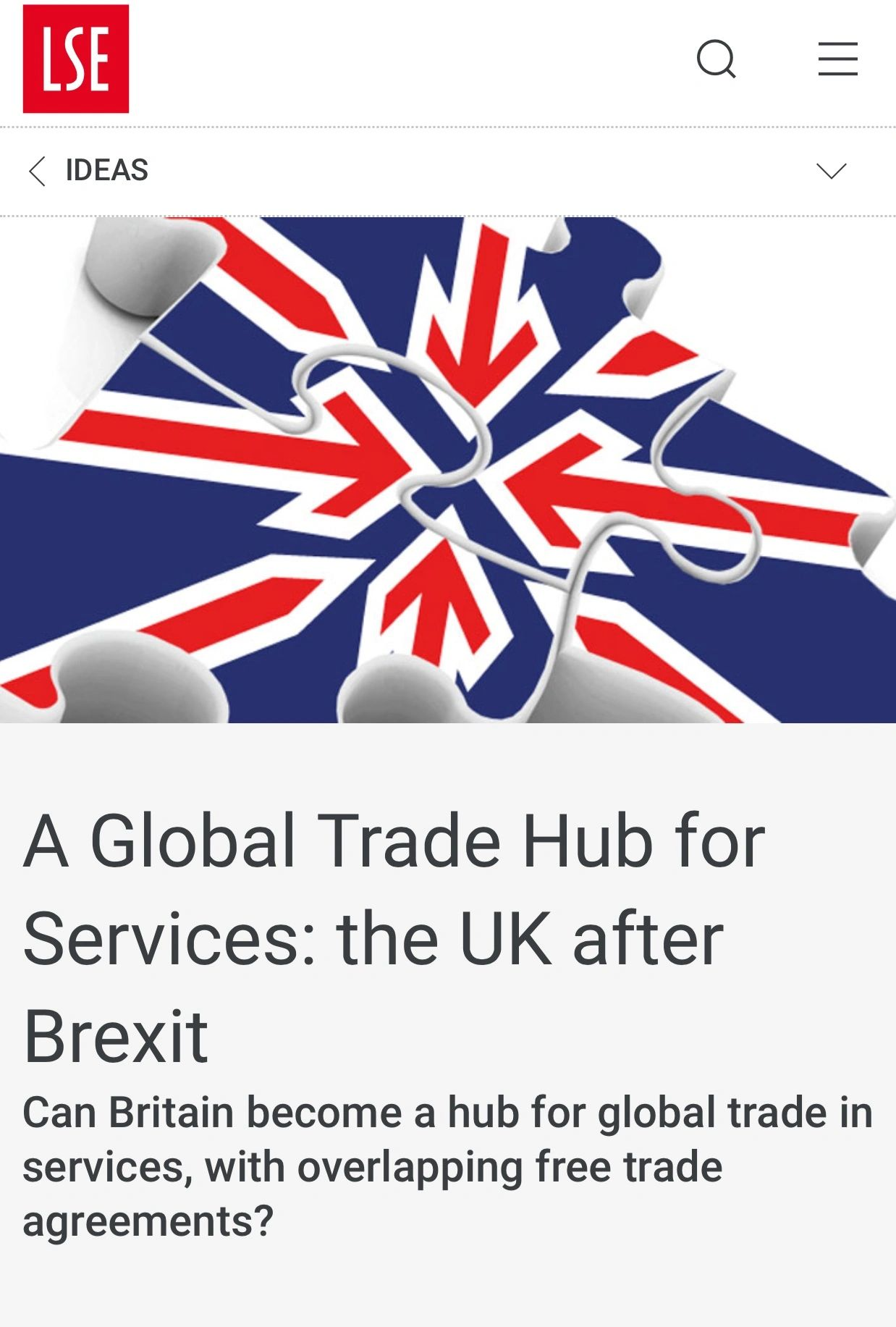 A Global Trade Hub For Services The Uk After Brexit