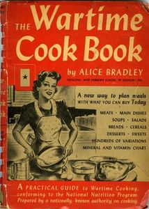 wat time ratioing recipes - old cook book cover