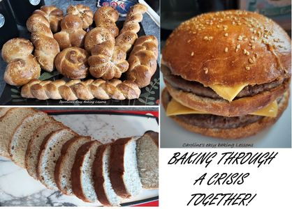 bread making during a crisis - examples of different types of bread and rolls