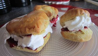 BRITISH SCONES & CREAM, MADE BY KIDS
