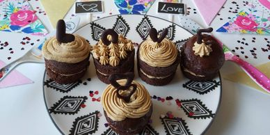 CHOCOLATE ESPRESSO MINI LAYER CAKES