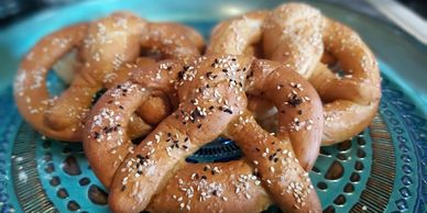 sweet and savoury pretzels photo and video tutorial