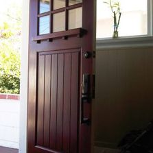 custom entry door in Rockridge, Oakland, CA